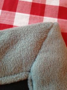 Hand sewn corners
